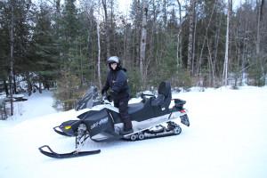 Set to jet on a Bombardier snowmobile Jenn Smith Nelson