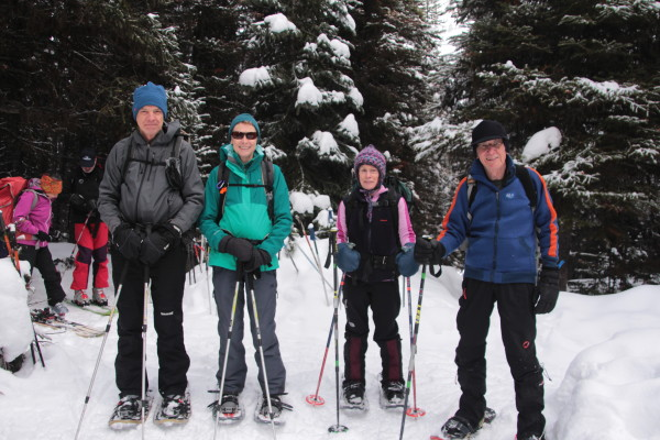 Guests always have the option to snowshoe or ski each day