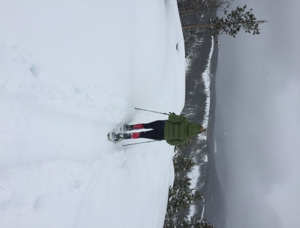 Snowshoeing with the Helios Hooded Jacket