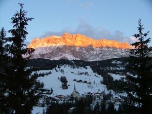 Sunset on Santa Croce rock