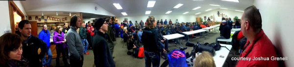 Pre-Race meeting hosted by RDs Helen and Chris Scotch plays to a full house at the KOC hall