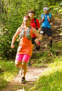 Matthew Menacher and Jason Davis following down one of the many hills