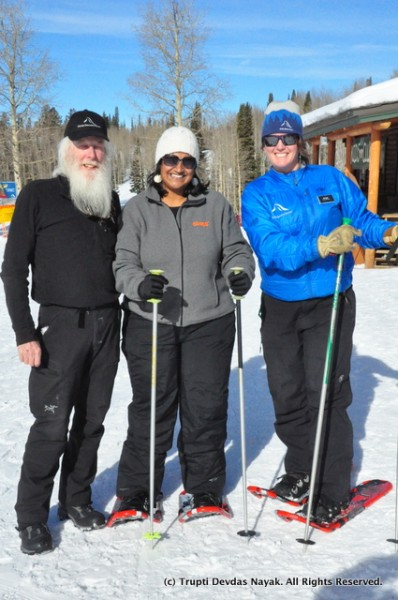 Happy smiles - with Grand Targhee's Naturalist guides Andy and Brigid Sinram