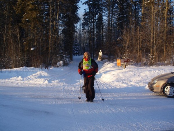 Marron crossing at 2011 Arrowhead before the extreme cold