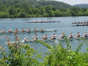 A rowing regatta, Oak Ridge, TN