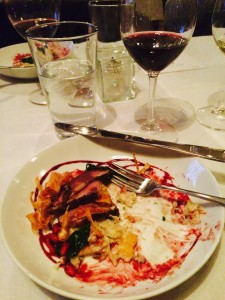 A delicious meal at Rupert's Restaurant.