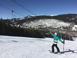 Bluebird skies at Copper Mountain.