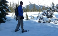 Snowshoeing Moose Meadow, Alyeska Resort