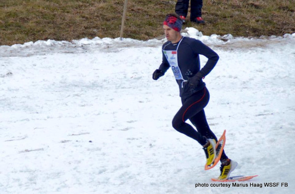 The look of a World Snowshoe Federation champion: Stéphane Ricard of France