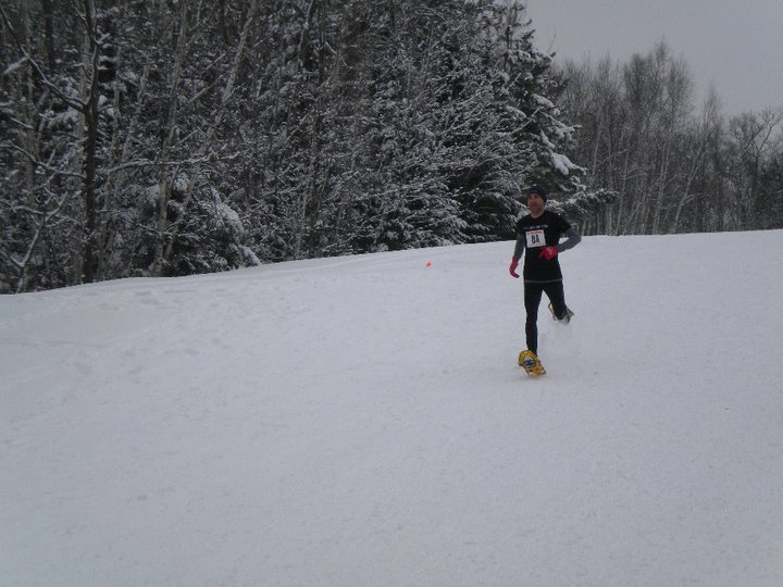 Michael Reneau makes the podium with a bronze finish in Cable's USSSA Dion Snowshoe Championships in 2011; also made the US Team. Watch for him at 2015's Eau Claire race