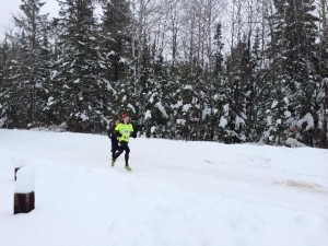 35-Mile Silver Medalist Greg Danowski Moves Fast In The Snow