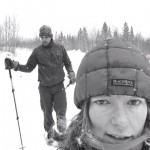 Life Of Tuscobia Race Directors Helen and Chris Scotch Checking Trails near Ojibwa