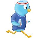 Twitter jogger logo
