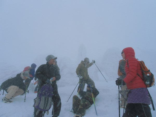 Zao Tour Group in Storm