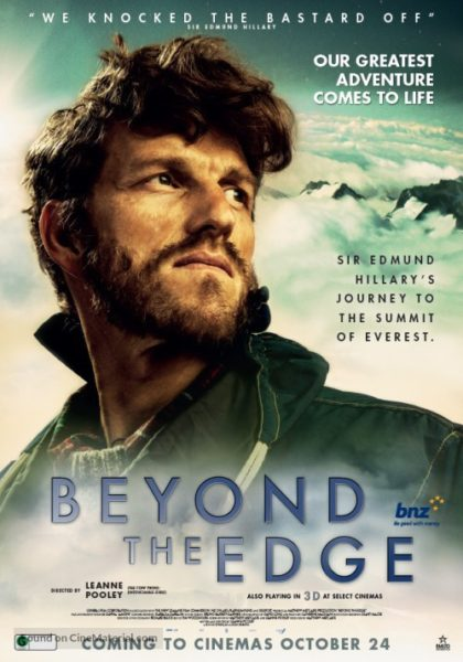 Movie poster announcing the opening of Beyond the Edge