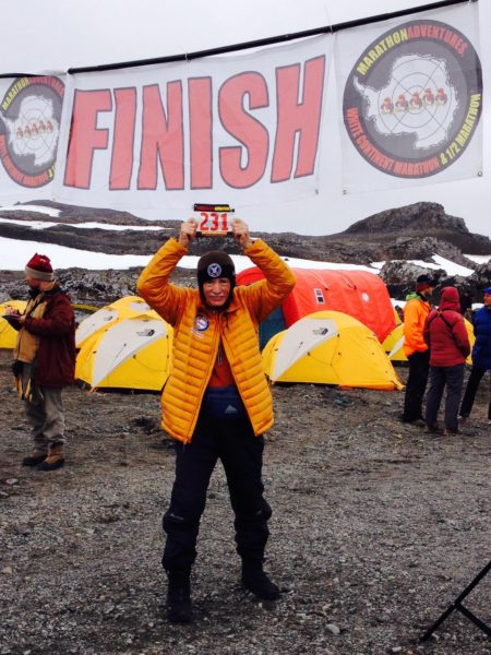 Brent Weigner at his tenth completion of the continents: King George Island February 19, 2015.