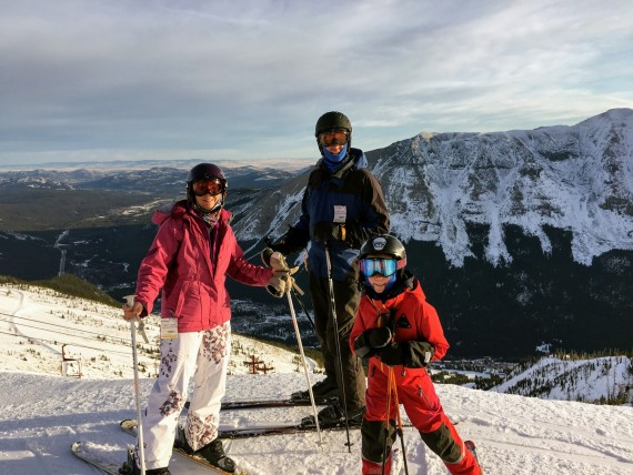 Tanya's family at Castle Mountain Resort, Alberta