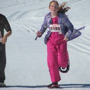 Racing snowshoes brings out the pink in everyone