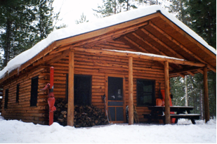 Tom's Lake Cabin in the Hiawatha National Forest