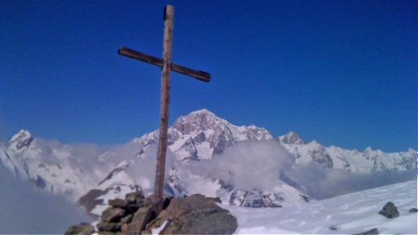The summit cross on Punta della Croce.