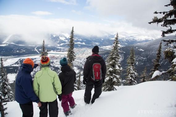 snowshoeing tour at Revelstoke Mountain Resort, British Columbia