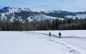 A sunny day of snowshoeing at Royal Gorge Resort.