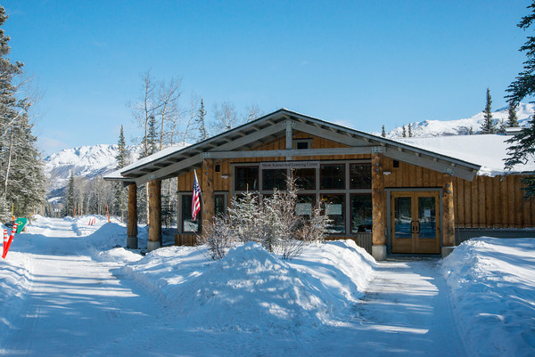Denali National Park Welcome Center: six million acres to snowshoe inAlaska.