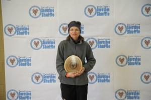 Lisa Trainor Wins Yet Another Wooden Plaque