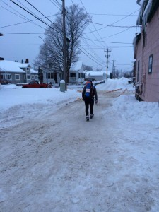 Mark Scotch Out The CCC Back Door To Start His 150-Mile Ski