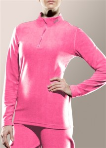 Women's zip mock neck top